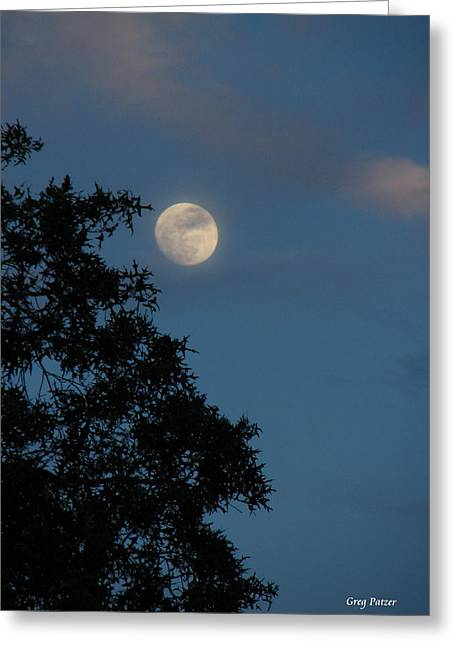 Greeting Card featuring the photograph Eight Thirty Two Pm by Greg Patzer