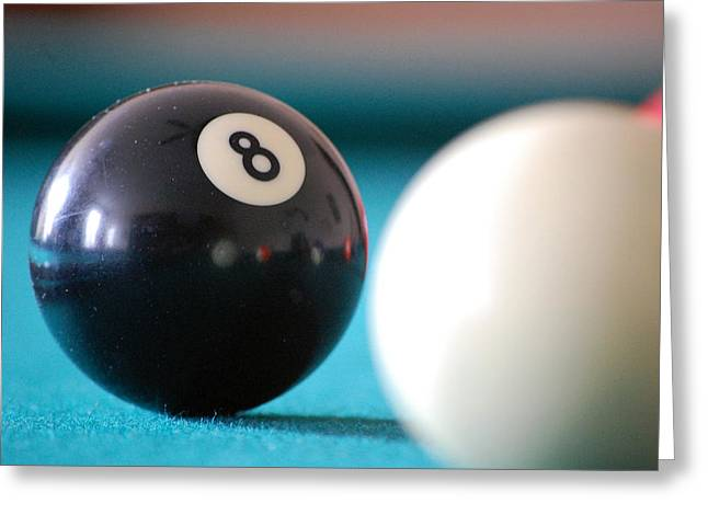 Eightball Greeting Card by Robert Meanor