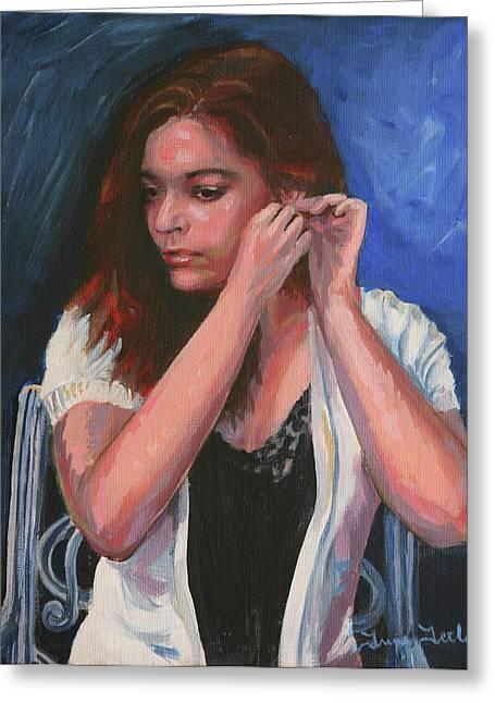 Eighteen Portrait By Moonlight Greeting Card