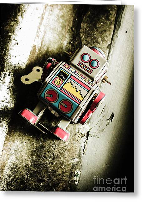 Eighties Cybernetic Droid  Greeting Card