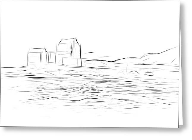 Eilean Donan Castle Digital Art Greeting Card