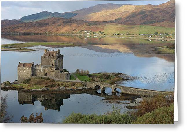 Eilean Donan Castle In Autumn - Panorama Greeting Card
