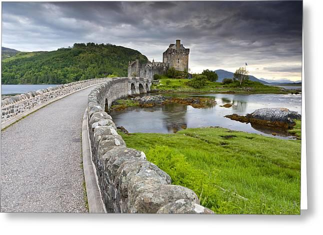 Eilean Donan Castle Greeting Card by Sebastian Wasek