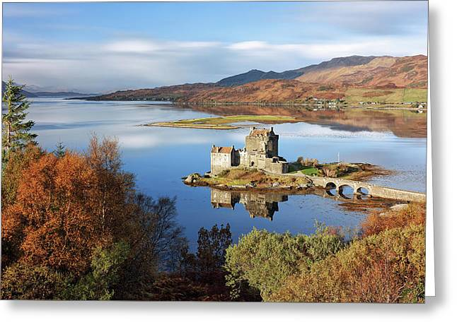 Greeting Card featuring the photograph Eilean Donan In Autumn - Dornie by Grant Glendinning