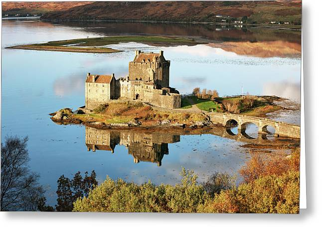 Greeting Card featuring the photograph Eilean Donan - Loch Duich Reflection - Skye And Lochalsh by Grant Glendinning