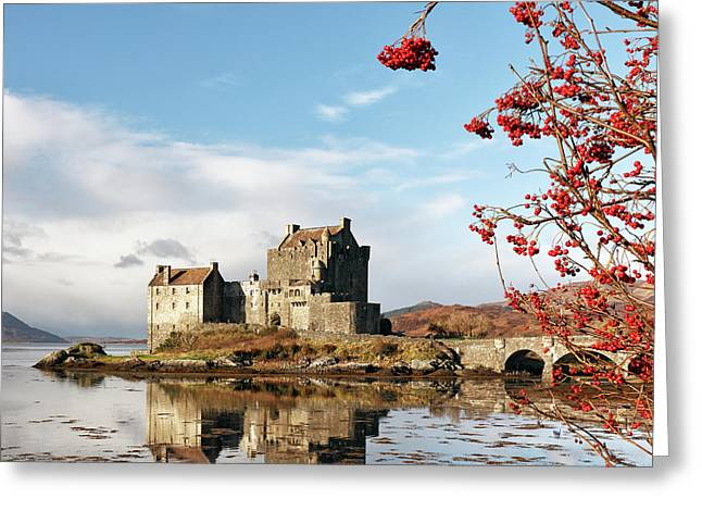 Greeting Card featuring the photograph Eilean Donan - Loch Duich Reflection - Skye by Grant Glendinning