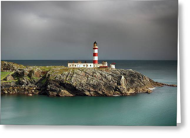 Greeting Card featuring the photograph Eilean Glas Lighthouse by Grant Glendinning