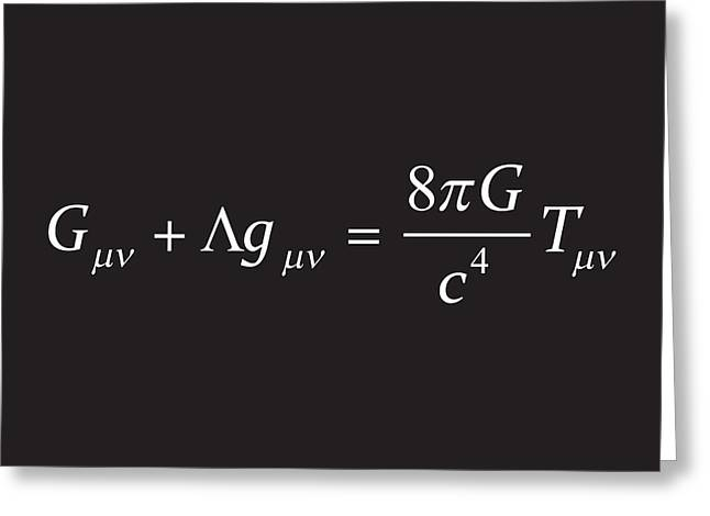 Einstein Field Equation Formula Greeting Card