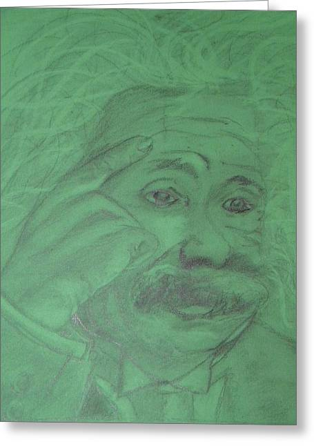Einstein Greeting Card by Manuela Constantin