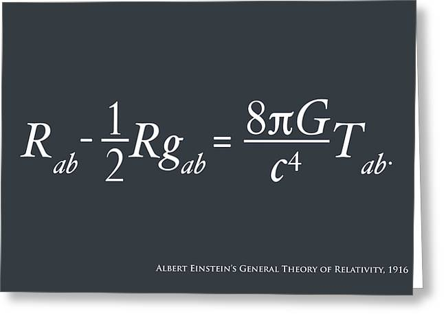 Einstein Theory Of Relativity Greeting Card by Michael Tompsett