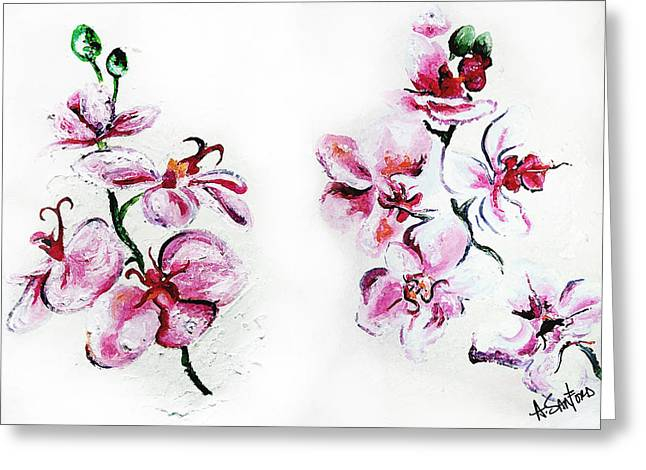 Either Orchid Greeting Card by Amanda  Sanford