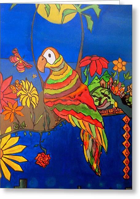 El Bird Greeting Card by MikAn 'sArt