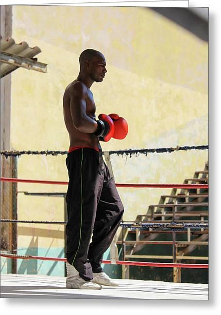 El Boxeador Greeting Card