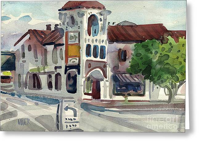 Carlos Greeting Cards - El Camino Real in San Carlos Greeting Card by Donald Maier