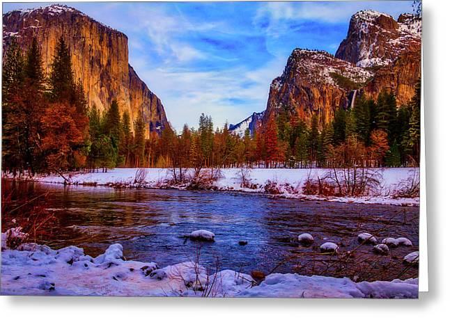 El Capitan Sunset Yosemite Valley Greeting Card by Garry Gay