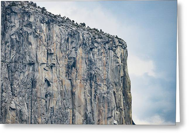 El Capitan Up Close And Personal From Tunnel View Yosemite Np Greeting Card