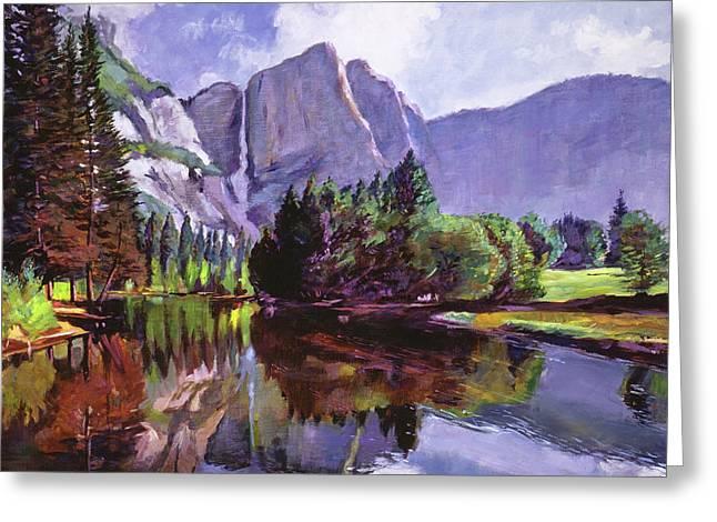 El Capitan Yosemite Greeting Card by David Lloyd Glover