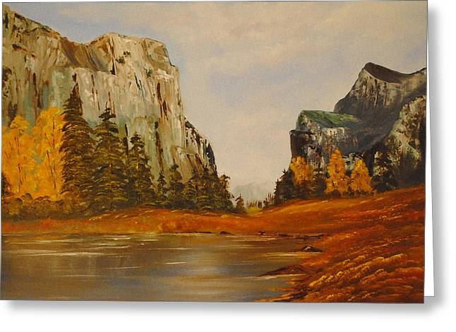 El Capitan Yosemite Valley Greeting Card by James Higgins