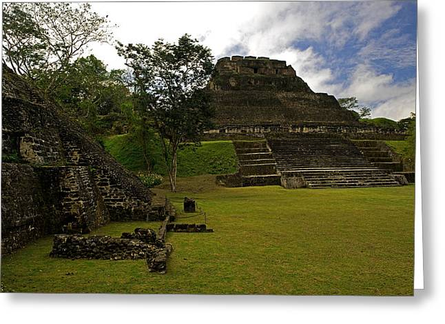 El Castillo Pyramid At Xunantunich Greeting Card by Panoramic Images