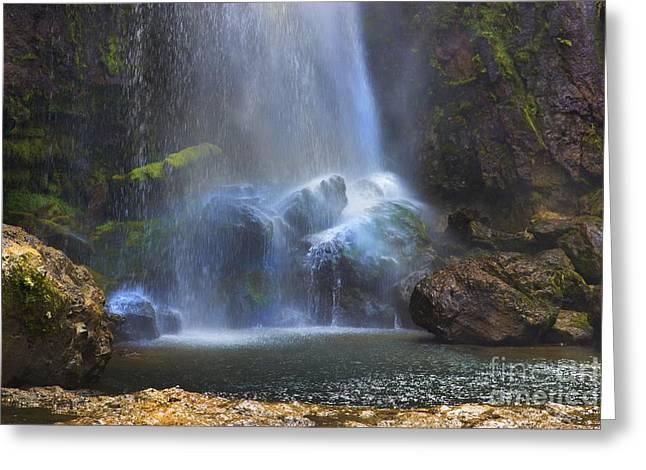 El Chorros Waterfalls Of Giron Vii Greeting Card by Al Bourassa