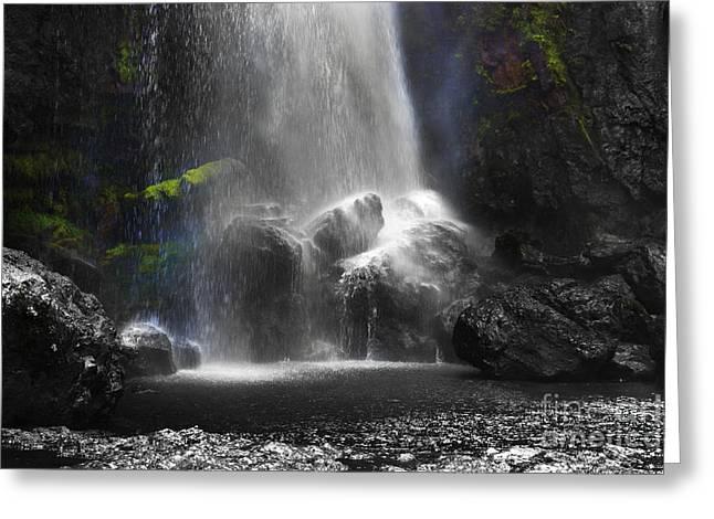 El Chorros Waterfalls Of Giron X Greeting Card by Al Bourassa