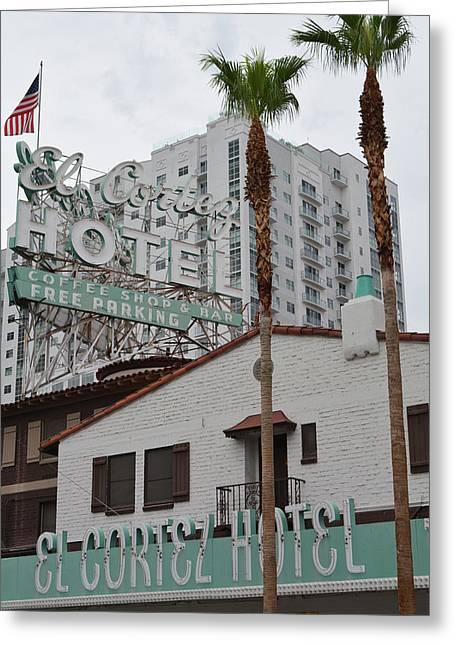 El Cortez Hotel Las Vegas Greeting Card
