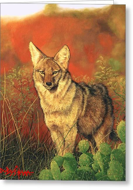 El Coyote Greeting Card