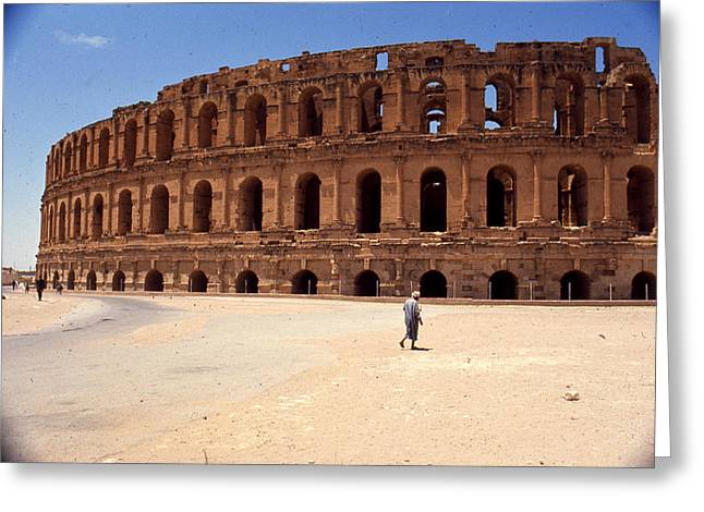 Theater Greeting Cards - El Djem Amphitheater Greeting Card by Erik Falkensteen