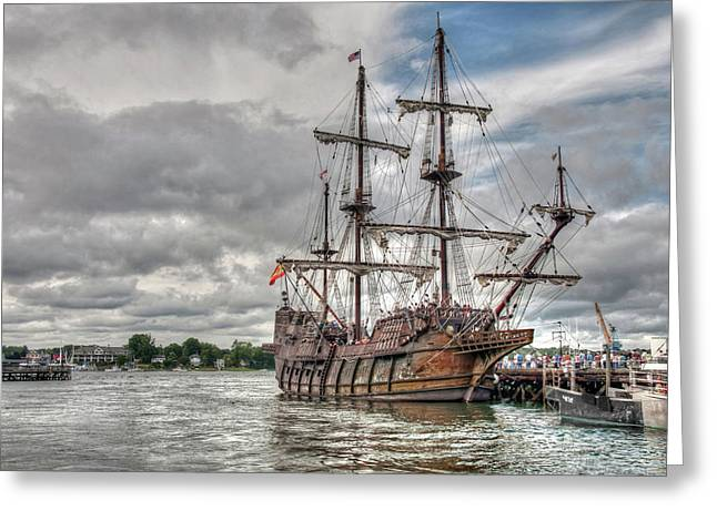 El Galeon Andalucia In Portsmouth Greeting Card