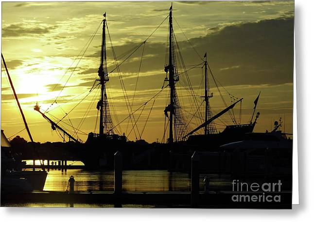 El Galeon Sunrise Greeting Card