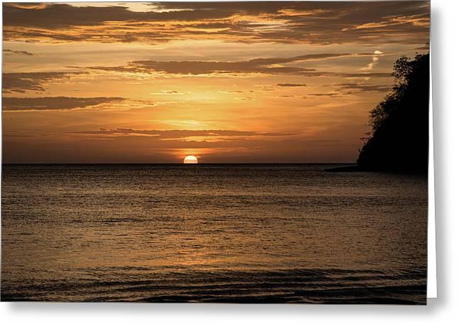 El Jobo Sunset Greeting Card by Michael Santos
