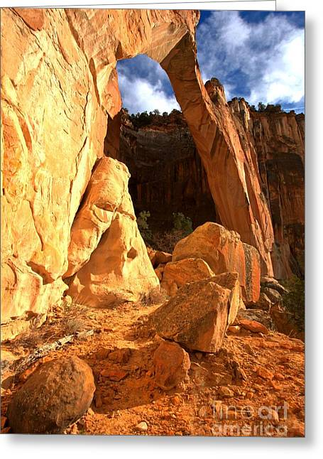 El Malpais La Ventana Arch Greeting Card