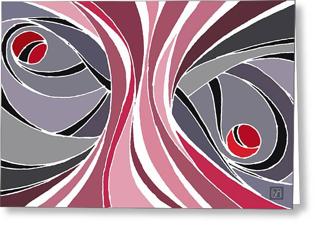 el MariAbelon red Greeting Card
