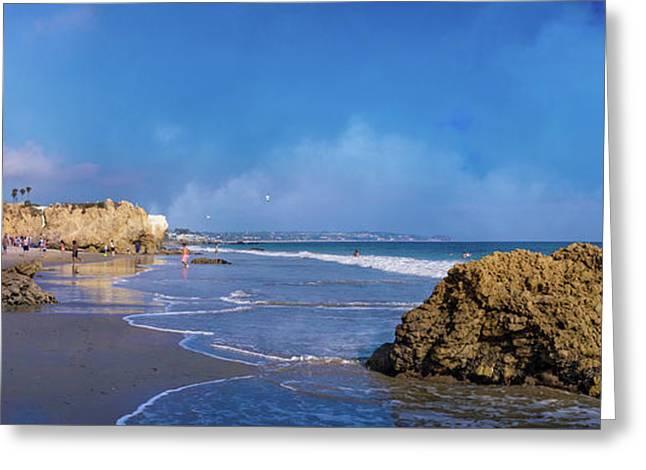 El Matador Beach Panorama Greeting Card