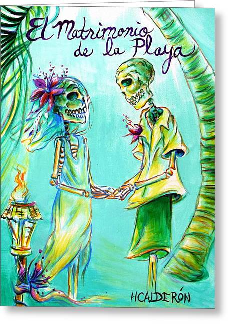 El Matrimonio De La Playa Greeting Card