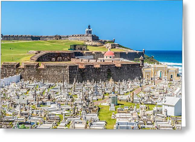 El Morro And Cemetery Greeting Card by Tim Sullivan
