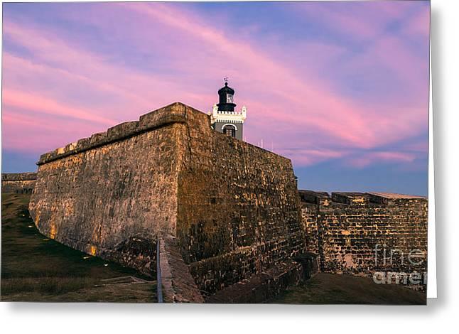 El Morro In Pink Greeting Card