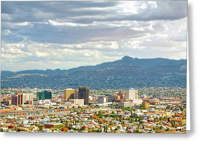 El Paso Texas Downtown View Greeting Card