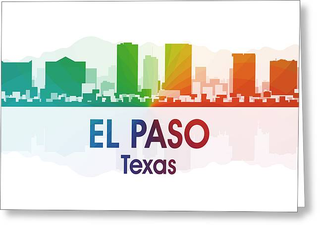 El Paso Tx Greeting Card by Angelina Vick
