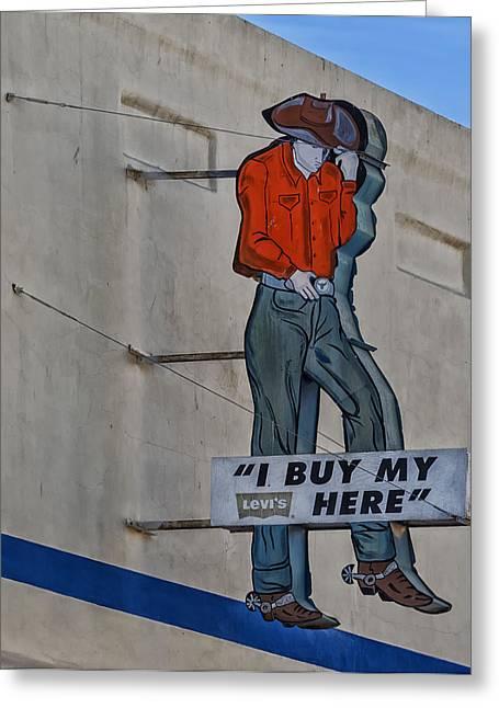 El Paso Western Wear Greeting Card by Mountain Dreams