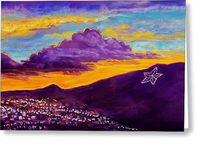 El Paso's Star Greeting Card by Candy Mayer