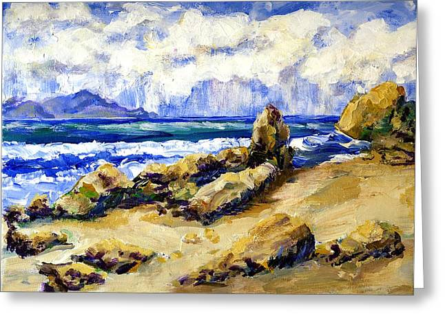 El Pescador Beach Storm Coming In Greeting Card by Randy Sprout