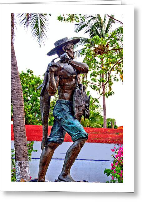 El Pescador Greeting Card by Jim Walls PhotoArtist