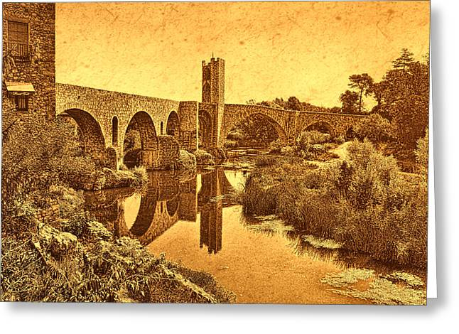 El Pont Viel Greeting Card
