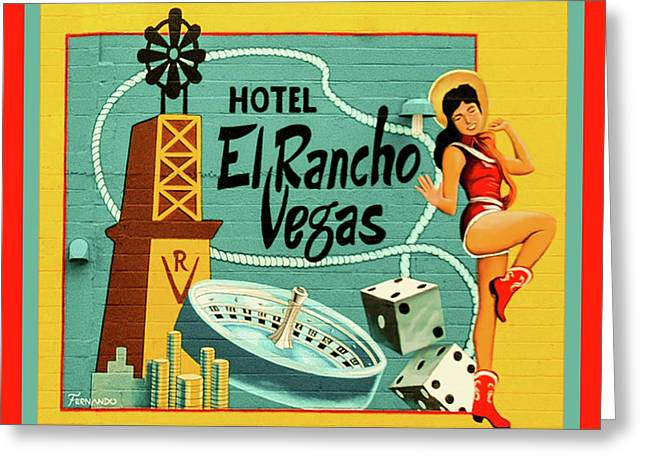 Greeting Card featuring the photograph El Rancho by Jeff Burgess