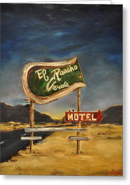 El Rancho Greeting Card by Lindsay Frost