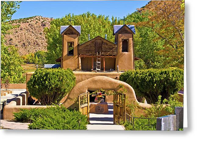 El Santuario De Chimayo Greeting Card by Bill Barber
