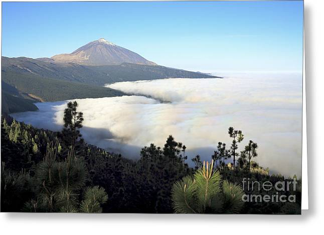 El Teide Above The Clouds Greeting Card