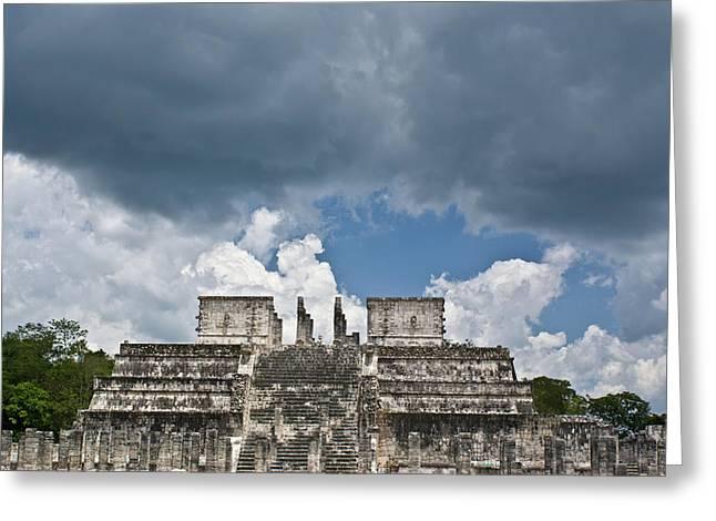 Solidity Greeting Cards - El templo de las columnas  1 Greeting Card by Douglas Barnett