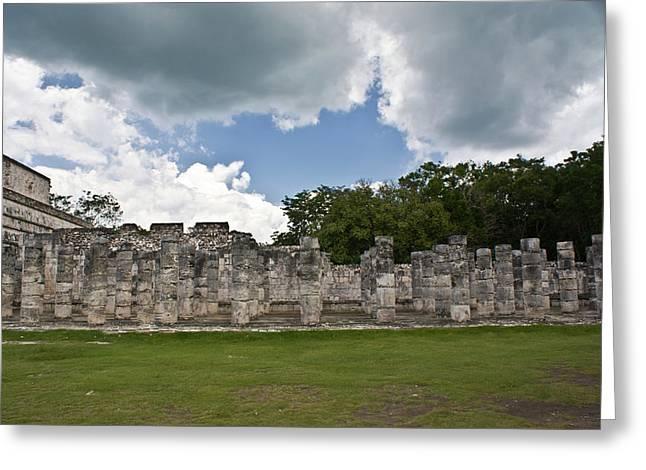 El Templo De Las Columnas  Greeting Card by Douglas Barnett
